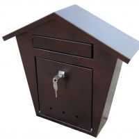 Ящик почтовый одинарный с крышей ЯПК-01.000