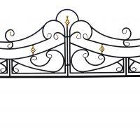 Ограда для могилы тип №15